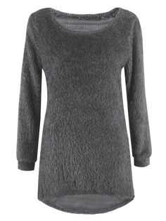 Sale 17% (18.89$) - Casual Solid O-Neck Long Sleeve Loose Knitted Women Pullover Sweater