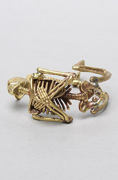 The Skeleton Bracelet in Brass by Monserat De Lucca Jewelry 20% off with repcode FRESHYFRESH19 #Karmaloop