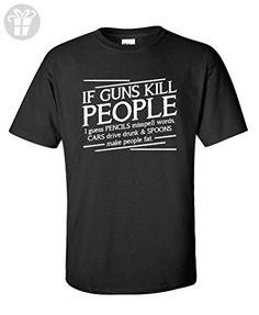Guns Kill People, Pencils Miss Spell Words Political Funny T-Shirts XL Black - Birthday shirts (*Amazon Partner-Link)