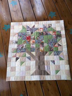 "Patchwork blocks, phase two is done! I don't rise and shine as much as I hit the sewing room and caffeinate. First phase of these ""split personality""… Patchwork block with a plethora of plaids? Tree Quilt Pattern, Patchwork Quilt Patterns, House Quilts, Barn Quilts, Small Quilts, Mini Quilts, Family Tree Quilt, Star Quilt Blocks, Block Quilt"
