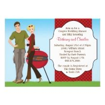 BBQ wedding | Couples BBQ Wedding Shower Invitation