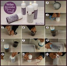 Cómo decorar velas con sal paso a paso