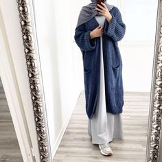 Modest Fashion Hijab, Casual Hijab Outfit, Abaya Fashion, Modest Outfits, Fashion Wear, Casual Dresses, Womens Fashion, Mode Abaya, Gilet Long