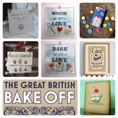"""The day is finally here...it's The Great British Bake Off Final!  Who's getting your vote this year?   My favourite is Nadiya but I'd be happy if Tamal won...  Some personal Bake Off finds that get my vote this year are these baking inspired handmade makes.  """"Baking Weirdo"""" plaque by Wotnot Pig Ceramics Wooden """"Bake Off Champion"""" hanger by Polkadot of Winslow Glass coasters by Jackie Vine Glass Cupcake glasses case by Sunny Blooms """"Cake, Breakfast of Champions"""" artwork by Snowdon Design…"""