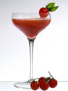 Bloody Martini  This cocktail is perfect for a holiday brunch! 1.5 oz. Belvedere Cytrus  Dash simple syrup  Dash lemon juice  Dash Tabasco  6 cherry tomatoes  In a shaker glass, muddle tomatoes with the lemon juice and simple syrup. Add rest of ingredients and shake with cubed ice. Fine strain into a chilled martini glass and garnish with a cherry tomato speared with a basil leaf.   - MarieClaire.com