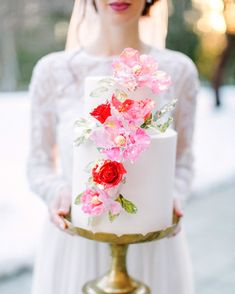 Prettiest winter Valentine's Day wedding inspiration from a collection of amazing DC wedding vendors. Lush sweetheart table, his and hers cocktails and a vibrant sugar flower cake! Elegant Wedding Cakes, Wedding Cake Designs, Raspberry Wedding, Beautiful Cake Designs, Beautiful Cakes, Valentines Day Weddings, Summer Wedding Colors, Martha Stewart Weddings, Wedding Cake Inspiration
