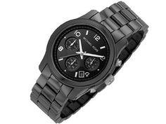 Michael Kors Men's Chronograph With Black Ceramic Bracelet Michael Kors, Casio Watch, Bracelets, Smart Watch, Ceramics, Black And White, Accessories, Wristwatches, High
