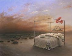 Ocean of Tranquility by Samy Charnine - Surrealismo / Surrealism Modern Artists, Contemporary Artwork, Heart Art, Art Festival, Surreal Art, Cool Art, Art Photography, Fine Art Prints, Painting