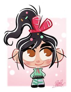 Chibi Vanellope from Disney's Wreck-It Ralph by *princekido on deviantART