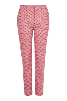 Flocked Spot Cigarette Trousers - Topshop