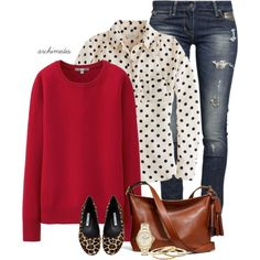 Polka Dots and Spots by archimedes16 on Polyvore featuring Uniqlo, J.Crew, GUESS, Manolo Blahnik, Coach and FOSSIL