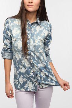 BDG Printed Denim Shirt  #UrbanOutfitters