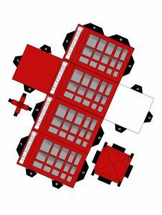 British Telephone Booth Papercraft by animeecutie.deviantart.com on @deviantART