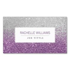 Purple Ombre Glitter Business Card Template This Is A Fully