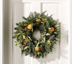 Live Holiday Citrus Wreath #potterybarn