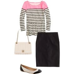 Black and Pink. I'd swap the skirt for jeans :)