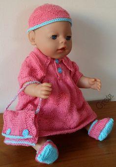 zelf gemaakt voor mijn pop:Baby Born-43cm-roze-patroon van Malfried Gausel