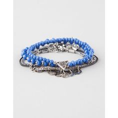 Full Tilt 5 Piece Coin/Bead Friendship Bracelets ($9.99) ❤ liked on Polyvore featuring jewelry, bracelets, black, bracelet jewelry, black chain bracelet, black jewelry, black bangles and full tilt
