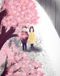 "9 Likes, 3 Comments - Sayee Gogate (@brainbrewery_04) on Instagram: ""I started reading Norwegian wood by murakami today and this picture kept popping up in my head.…""  #murakami #norwegianwood #sketchbook #digitalart #illustration #sakura #japan #walk #books"