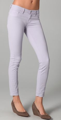 Love all the coloured jeans this spring.  I like a milder version though and can't take off these light purple J Brands