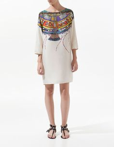 TUNIC WITH PRINTED NECKLINE - Woman - New this week - ZARA United States