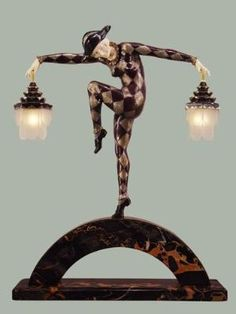 Art Deco Harlequin lamp. this is so neat by echkbet
