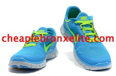 Pink Blue Nike Free Run 3 Womens Electric Yellow 510643 660