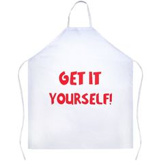 "This apron is made out of 100% Polyester designed to give you a sarcastic and fun apron to wear while cooking in the Kitchen. The Apron is 31""x 35.75"" We recommend a cold wash only to ensure the desig"