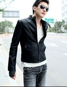 Conventional Jackets For Men Jacket Real New Pu Motorcycle Leather