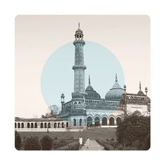 $145 Limited edition Giclee art print.  61 x 61cm (unframed) CRANE MUSEO PORTFOLIO RAG (Matt) 300gsm   IMAGE: A teacher and student in conversation at Bara Imambara in Lucknow, India.