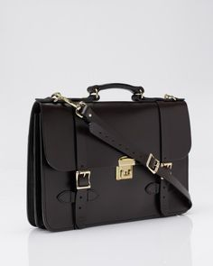 leather field satchel