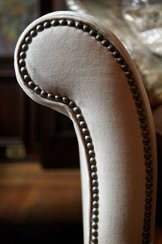 Can never have enough nailheads! (The arm of the Preston Sofa.) Arhaus