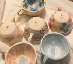 Pottery Painting, Ceramic Painting, Ceramic Art, Clay Art Projects, Ceramics Projects, Diy Clay, Clay Crafts, Ceramic Pottery, Pottery Art