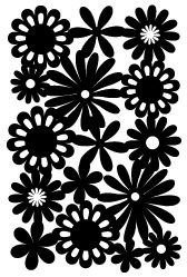 Free Flower Art Scrapbook Paper and Touches