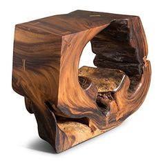 Artemano Round Suar Console with Hole Raw Wood Furniture, Console Furniture, Driftwood Furniture, Tree Furniture, Deco Furniture, Console Table, Wood Table Rustic, Wood Table Design, Wood Stove Heater