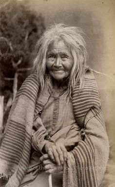 """""""Oldest woman on Mescalero Apache Reservation"""", New Mexico  Photographer: J.R. Riddle Date: 1886 - 1888? Negative Number 076161 via Palace of the Governors Photo Archives FB"""