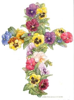 Pansy Cross ~ by Parker Fulton