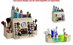 Makeup Organizer Storage Display Case Cosmetic Container Holder Counter Beauty #LipsnEyes