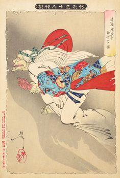 highest grade Giclee made in Kyoto Japan Samurai Ukiyoe Art Yoshitoshi Tsukioka
