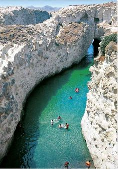 The sea caves of Papafragas, Milos, Cyclades, Greece. Greece is next on my travel list! Vacation Destinations, Dream Vacations, Vacation Spots, Vacation Places, Honeymoon Places, Greece Destinations, Vacation Wear, Honeymoon Ideas, Vacation Trips