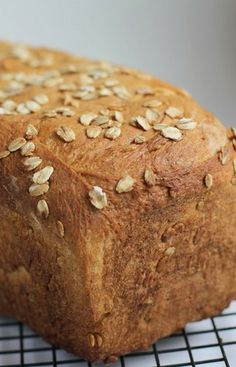 Soft  Sweet Honey Oat Bread