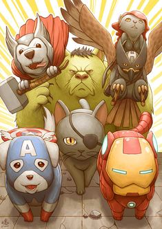 Nick Furry and the Animalvengers by *Ry-Spirit on deviantART