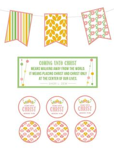 """YW 2014 Theme Kit: """"Come Unto Christ"""" Great ideas to use for New Beginnings, Evening in Excellence, birthdays, binders, and more! – My Own Brand Of Happy   Online Best Pics"""