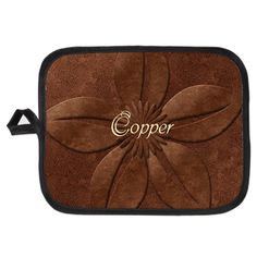 Vintage Style Old Copper Flower Potholder