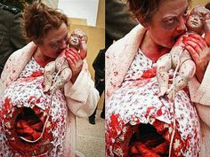creepy.. zombie eating mommy costume this Halloween.