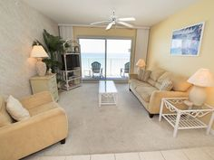 Fort Walton Beach Condos ~ Summerlin #503 Enjoy great views of the beach and Gulf of Mexico from both the living room and master bedroom of this spacious two bedroom, two bath Fort Walton Beach vacation rental. Relax by the beachfront pool or on your balcony overlooking the