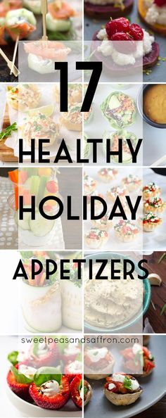 17 Healthy Holiday Appetizers, some great (healthier) options for your holiday entertaining!