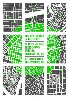 urban gardening / silkscreen. gggrafik