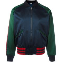 Gucci panther bomber jacket ($3,150) ❤ liked on Polyvore featuring men's fashion, men's clothing, men's outerwear, men's jackets, blue, gucci mens jacket, g star mens jacket, men's embroidered bomber jacket, mens blue jacket and mens blue bomber jacket