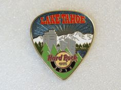 Lake Tahoe Hard Rock Cafe Pin Postcard Pick Series 2012 | eBay